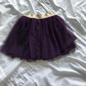 Purple and gold skirt